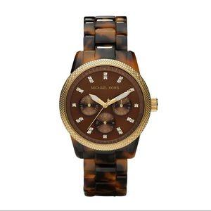 Michael Kors Jet Set Tortoise shell watch